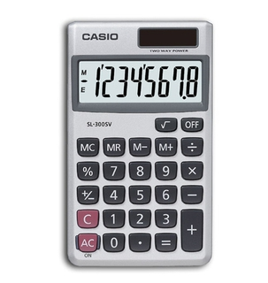 Casio 8-Digit Solar Calculators - SL300