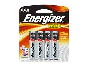 Energizer AA8 Alkaline Battery - E91BP8