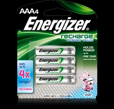 Energizer 4PK AAA NIMH Rechargeable Battery - NH12BP4