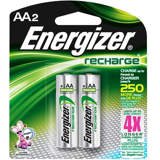 Energizer 2PK AA NIMH Rechargeable Battery - NH15BP2