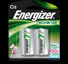 Energizer 2PK C NIMH Rechargeable Battery - NH35BP2