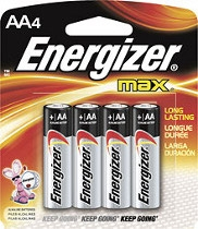 Energizer AA4 Alkaline Battery - E91BP4 Product Image