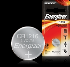 Energizer Button Cell Battery - 1216 - ECR1216 Product Image