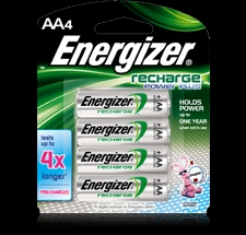 Energizer 4PK AA NIMH Rechargeable Battery - NH15BP4 Product Image