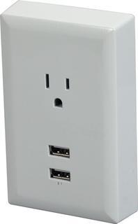 RCA USB wall plate charger - WP2UWR Product Image
