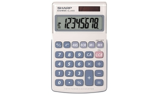 Sharp 8-Digit Basic Calculator with Large Display - EL240SAB Product Image