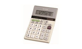 Sharp Twin-Powered Semi-Desktop Calculator with Slant Display - EL330TB Product Image